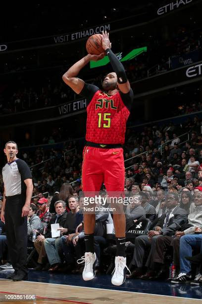 Vince Carter of the Atlanta Hawks shoots the ball against the Washington Wizards on February 4 2019 at Capital One Arena in Washington DC NOTE TO...