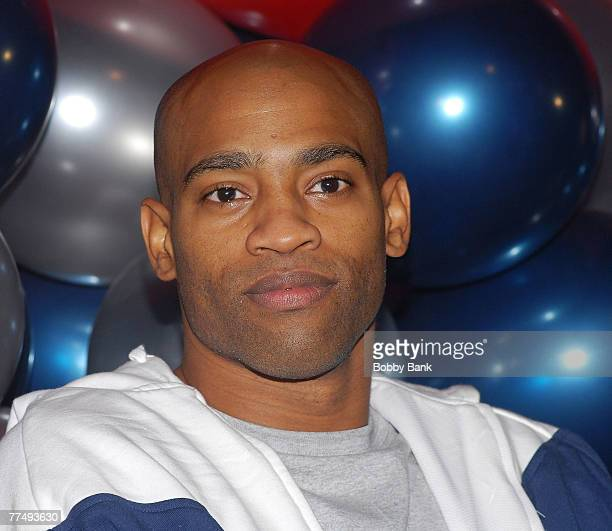 Vince Carter of the New Jersey Nets attends the NBA Cares and Toyota Tip Off Toyota Project Rebound with Court Refurbishment at The Boys Girls Club...