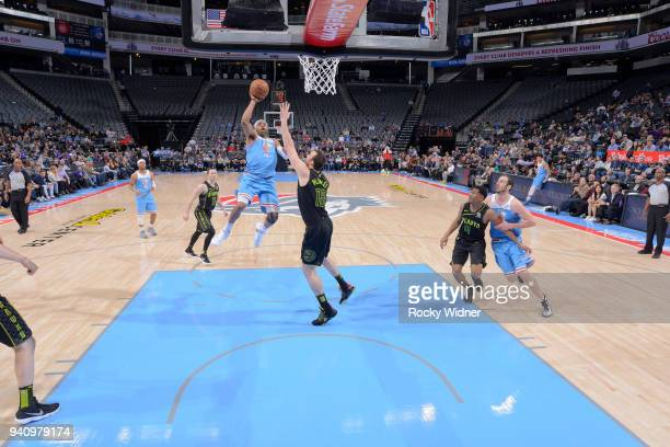 3b44bb763f3 Vince Carter of the Sacramento Kings shoots against the Atlanta Hawks on  March 22 2018 at
