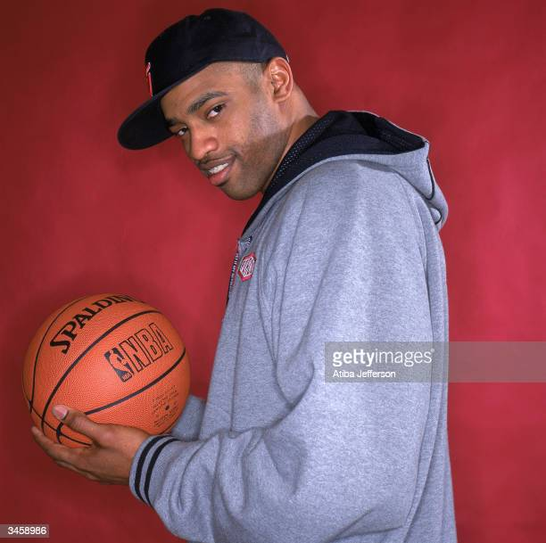 Vince Carter of the Toronto Raptors poses for a portrait during the 2004 NBA AllStar Weekend on February 13 2004 in Los Angeles California NOTE TO...