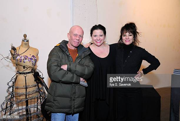 Vince Clarke Tonya Hurley and Parker Posey attend Tonya Hurley's Passionaries Book Release Party at PowerHouse Arena on January 7 2014 in the...