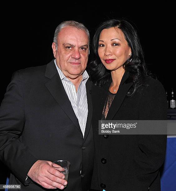 Vince Curatola and Deborah Gandolfini attends The 7th Annual New Jersey Hall Of Fame Induction Ceremony on November 13 2014 in Asbury Park United...