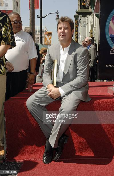 Vince Gill attends the unveiling of Amy Grant's star on The Hollywood Walk of Fame September 19 2006 in Hollywood California