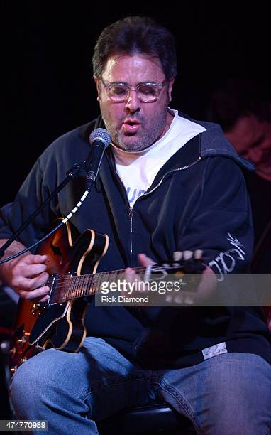Vince Gill member of The Time Jumpers performs at 3rd and Lindsley on February 24 2014 in Nashville Tennessee