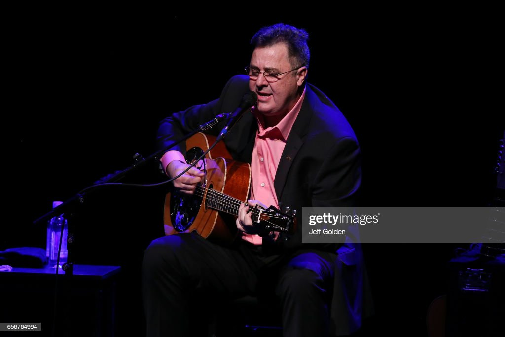 Vince Gill performs in support of the 'Songs and Stories Tour' at Fred Kavli Theatre on March 22, 2017 in Thousand Oaks, California.