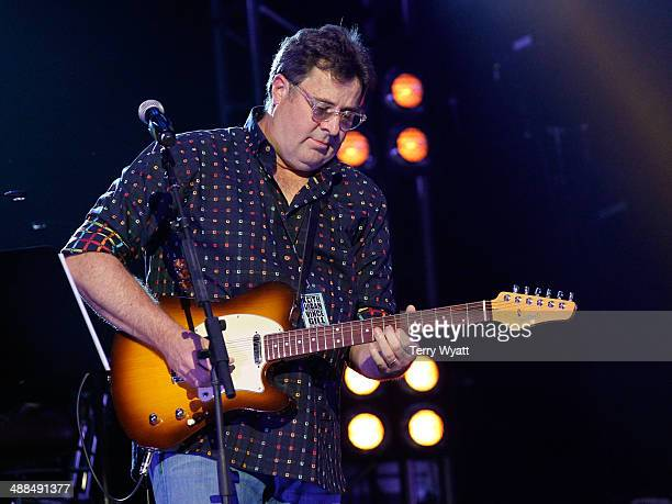 Vince Gill performs on stage during Keith Urban's Fifth Annual 'We're All 4 The Hall' Benefit Concert at the Bridgestone Arena on May 6 2014 in...