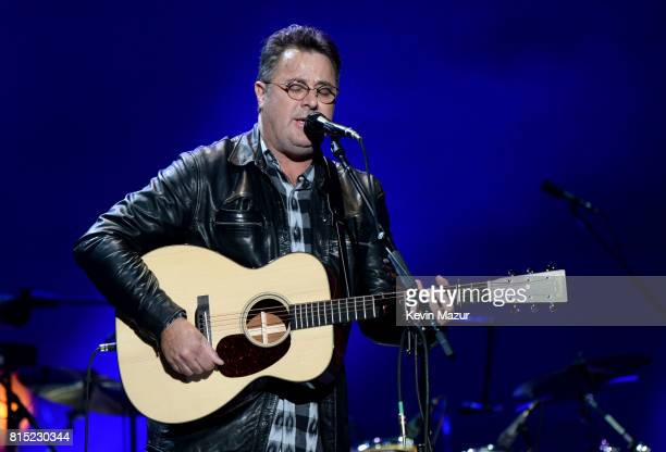 Vince Gill performs onstage with The Eagles during The Classic West at Dodger Stadium on July 15 2017 in Los Angeles California