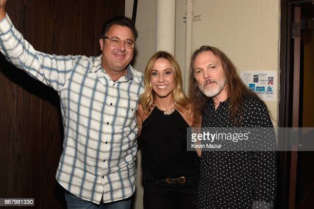 Vince Gill Sheryl Crow and Timothy B Schmit attend SiriusXM presents the Eagles in their first ever concert at the Grand Ole Opry House on October 29...
