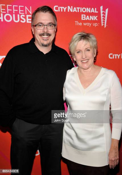 Vince Gilligan and Holly Rice attend Geffen Playhouse's 15th Annual Backstage at the Geffen Fundraiser at Geffen Playhouse on March 19 2017 in Los...