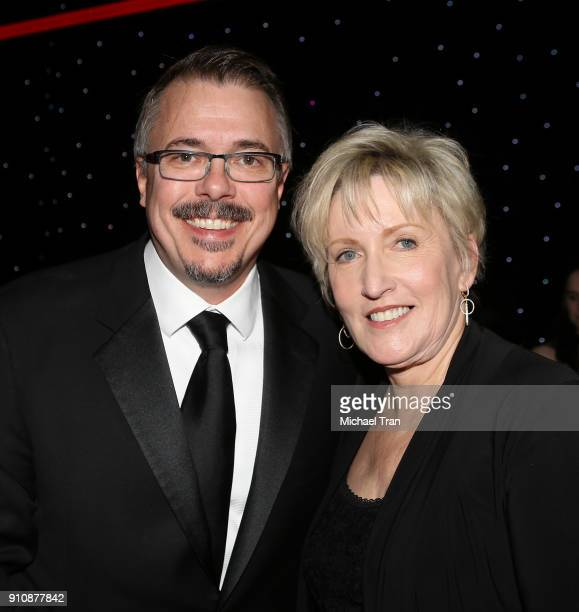 Vince Gilligan and Holly Rice attend the 68th Annual ACE Eddie Awards held at The Beverly Hilton Hotel on January 26 2018 in Beverly Hills California