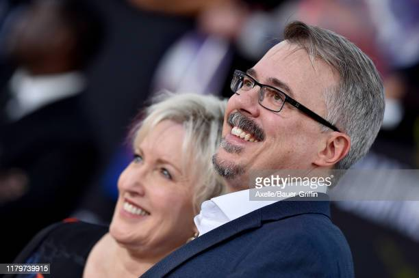 Vince Gilligan and Holly Rice attend the Premiere of Netflix's El Camino A Breaking Bad Movie at Regency Village Theatre on October 07 2019 in...