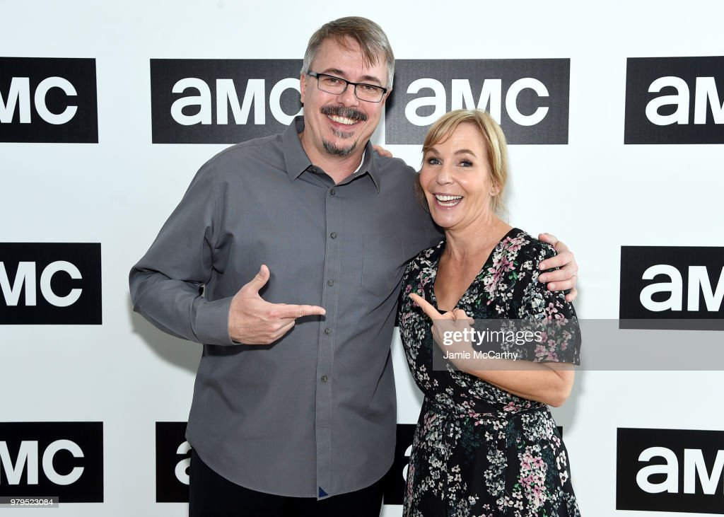 Vince Gilligan and Marti Noxon attend the AMC Summit at Public Hotel on June 20, 2018 in New York City.
