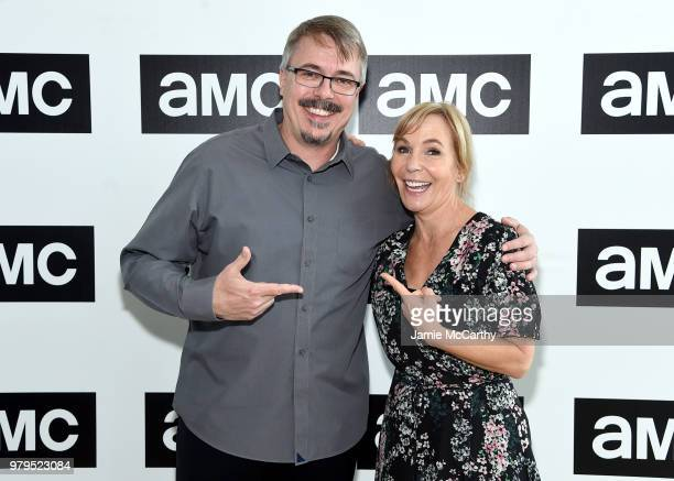 Vince Gilligan and Marti Noxon attend the AMC Summit at Public Hotel on June 20 2018 in New York City