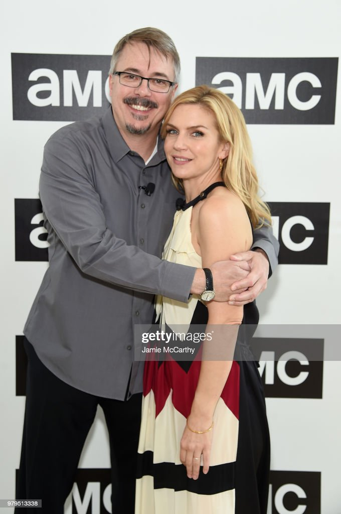 Vince Gilligan and Rhea Seehorn attend the AMC Summit at Public Hotel on June 20, 2018 in New York City.