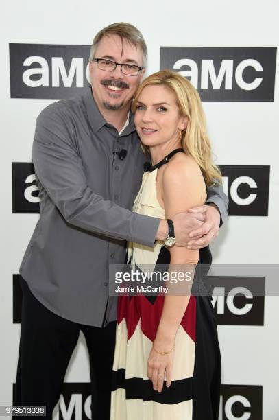 Vince Gilligan and Rhea Seehorn attend the AMC Summit at Public Hotel on June 20 2018 in New York City