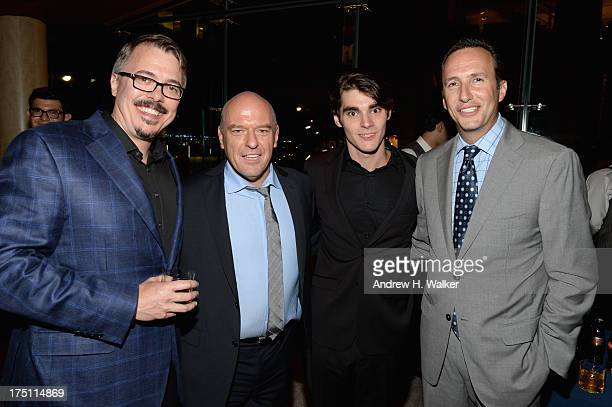 Vince Gilligan Dean Norris RJ Mitte and Charlie Collier attend the 'Breaking Bad' NY Premiere 2013 after party at Lincoln Ristorante on July 31 2013...