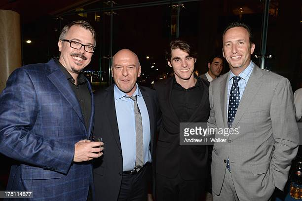 Vince Gilligan Dean Norris RJ Mitte and Charlie Collier attend the Breaking Bad NY Premiere 2013 after party at Lincoln Ristorante on July 31 2013 in...