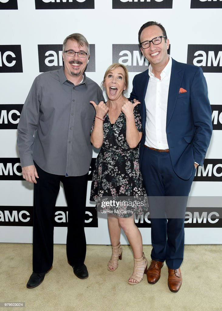 Vince Gilligan, Marti Noxon, and Charlie Collier attend the AMC Summit at Public Hotel on June 20, 2018 in New York City.