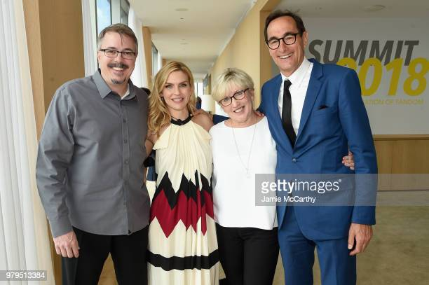 Vince Gilligan Rhea Seehorn Holly Rice and Josh Sapan attend the AMC Summit at Public Hotel on June 20 2018 in New York City