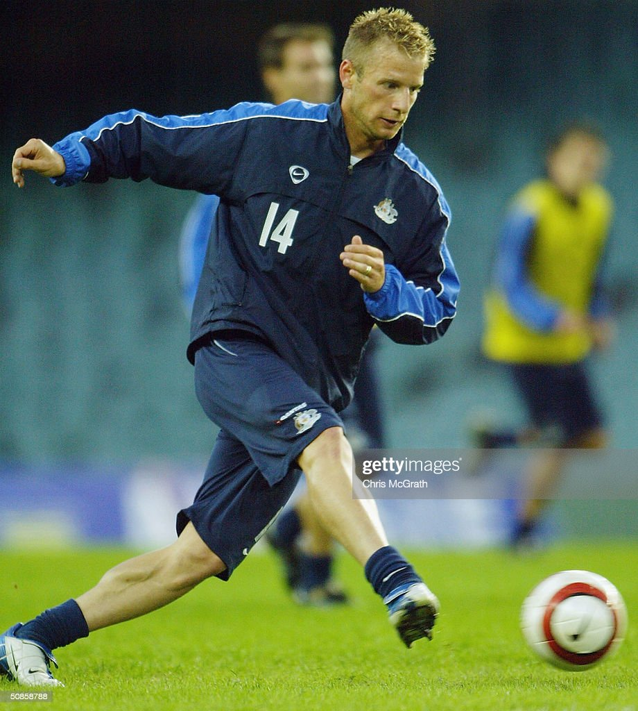 Vince Grella of the Socceroos in action during Australian Socceroos training held at Aussie Stadium, May 20, 2004 in Sydney Australia.