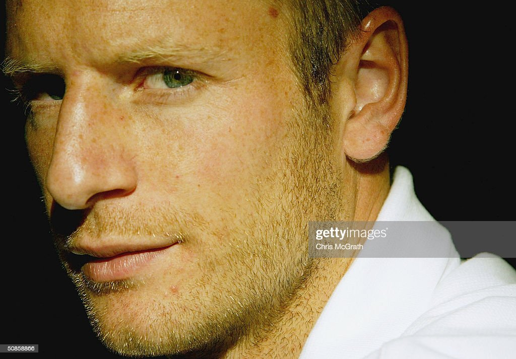 Vince Grella of the Socceroos poses for a portrait during the official welcoming ceremony for the Turkish soccer team held at the Sydney Opera House, May 20, 2004 in Sydney Australia.