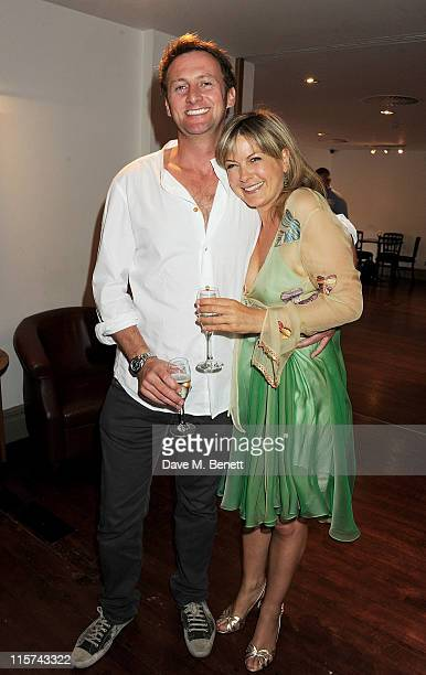 Vince Leigh and Penny Smith attend a launch party for Penny Smith's new book Summer Holiday at Century on June 9 2011 in London England