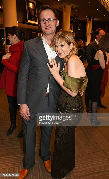 Vince Leigh and Penny Smith attend the Costa Book Of The Year Awards at Quaglino's on January 26 2016 in London England