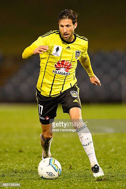 Vince Lia of the Phoenix controls the ball during the FFA Cup Round of 32 match between the Western Sydney Wanderers and the Wellington Phoenix at...