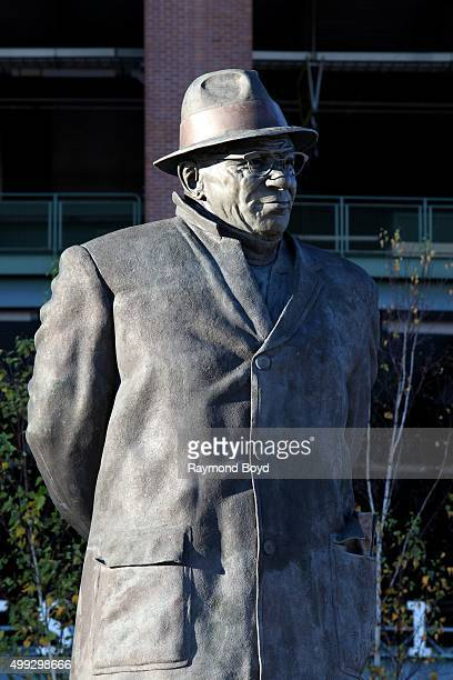 Vince Lombardi statue sits in Harlan Plaza at Lambeau Field home of the Green Bay Packers football team on November 20 2015 in Green Bay Wisconsin