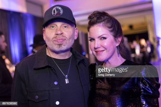 Vince Lozano and Kira Reed Lorsch attend the Rio Vista Universal's Valkyrie Awards and Holiday Party on December 16 2017 in Los Angeles California