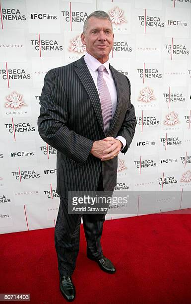 Vince McMahon attends the premiere screening of 'Anamorph' held at Tribeca Cinemas on April 16 2008 in New York City