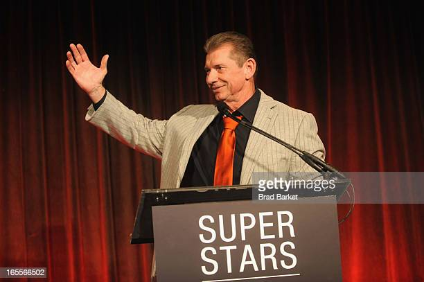 Vince McMahon attends WWE Superstars for Sandy Relief at Cipriani, Wall Street on April 4, 2013 in New York City.