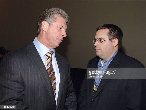 Vince McMahon Chairman of WWE and Jed Blaugrund CoExecutive Producer