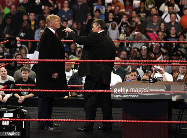 "Vince McMahon gets more than he bargained for when Donald Trump got physical after signing the contract for Wrestlemania XXIII's ""Hair vs Hair"" match..."