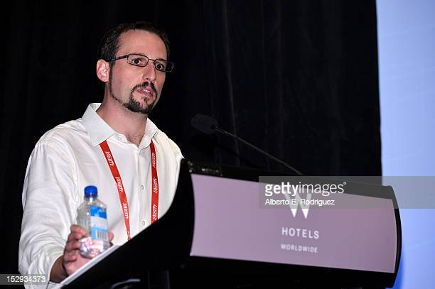 Vince Muscarella Vice President Studio Digital Services at Rentrak speaks onstage during The Hollywood IT Society's Digital Marketing Analytics...