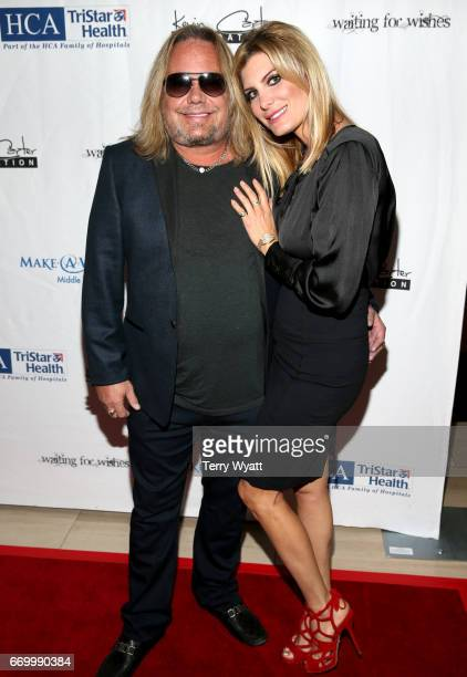 Vince Neil and Rain Hannah attend the 16th Annual Waiting for Wishes Celebrity Dinner Hosted by Kevin Carter Jay DeMarcus on April 18 2017 in...