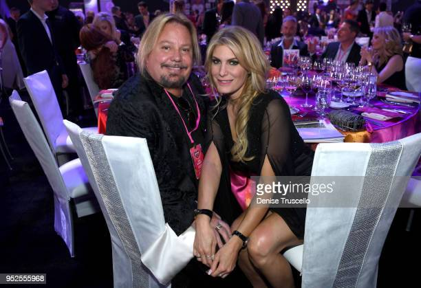 Vince Neil and Rain Hannah attend the 22nd annual Keep Memory Alive 'Power of Love Gala' benefit for the Cleveland Clinic Lou Ruvo Center for Brain...