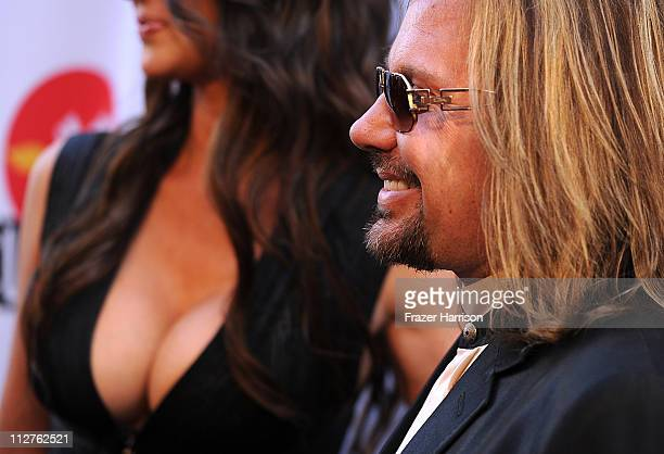 Vince Neil arrives at the 3rd Annual Revolver Golden God Awards at the Club Nokia on April 20 2011 in Los Angeles California