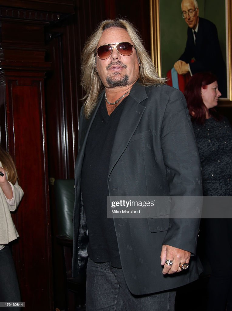 Vince Neil attends the last ever European press conference for Motley Crue at Law Society on June 9, 2015 in London, England.