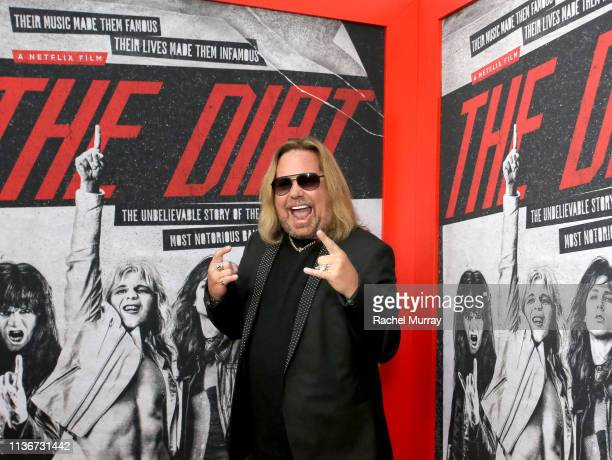 Vince Neil attends the premiere of Netflix's 'The Dirt at the Arclight Hollywood on March 18 2019 in Hollywood California