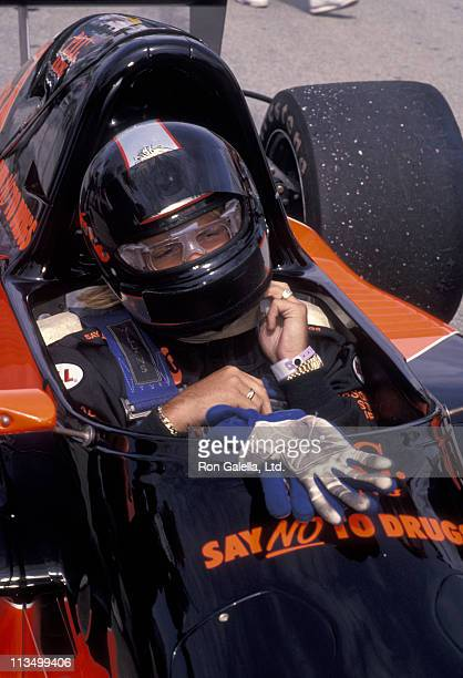 Vince Neil during Celebrity Grand Prix September 31 1992 at Long Beach Civic Center in Long Beach California United States