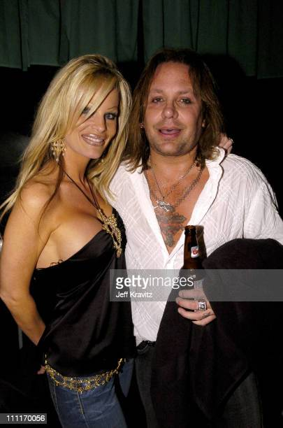 Vince Neil during Spike TV's 2nd Annual Video Game Awards 2004 Backstage at Barker Hangar in Santa Monica California United States