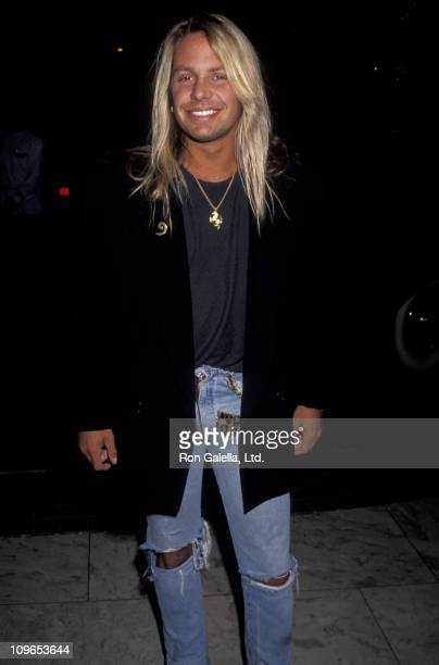 Vince Neil during Vince Neil Sighting at Bel Age Hotel June 11 1991 at Bel Age Hotel in Hollywood California United States