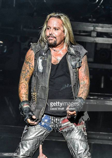 Vince Neil from Motley Crue performs at Le Zenith on June 18 2012 in Paris France