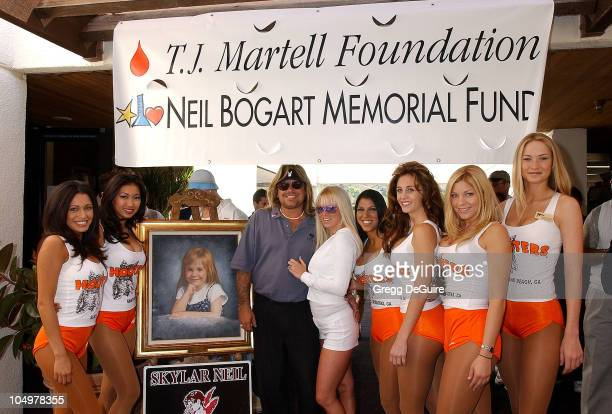Vince Neil Jenna Jameson Hooters Girls during 6th Annual Skylar Neil Memorial Golf Tournament To Benefit The TJ Martell Foundation/Neil Bogart...