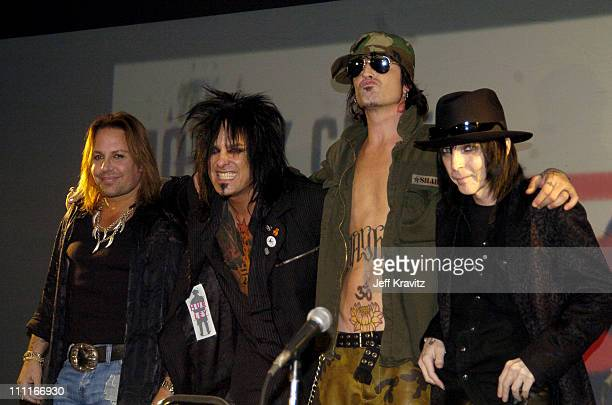 Vince Neil Nikki Six Tommy Lee and Mick Mars of Motley Crue