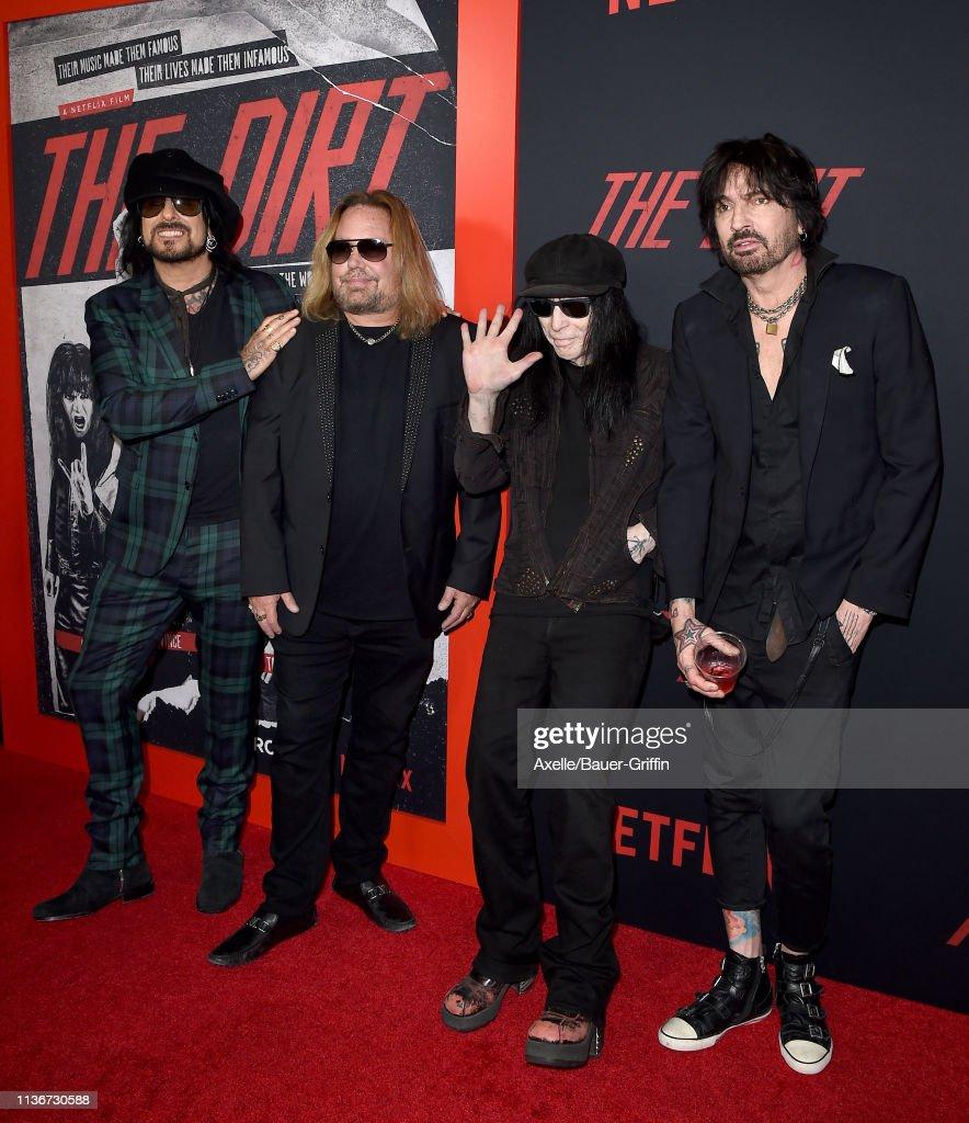"Premiere Of Netflix's ""The Dirt"" - Arrivals : News Photo"