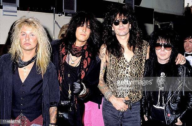 Vince Neil Nikki Sixx Tommy Lee and Mick Mars of Motley Crue