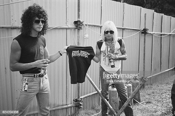 Vince Neil of Motley Crue backstage at Monsters Of Rock festival Donington Park Leicestershire United Kingdom August 18th 1984
