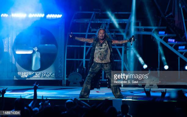 Vince Neil of Motley Crue performs at Jiffy Lube Live on July 20 2012 in Bristow Virginia